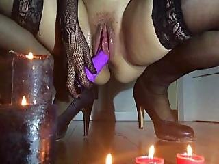 Super Huge Squirtng During An Intensive Masturbation For Halloween