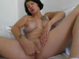 Huge Tit Babe Rubs Lotion On Herself - Julia Reaves