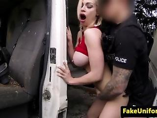 Bigtitted Brit Pounded By Fake Coppers Cock