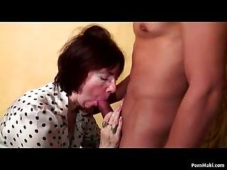 Granny Takes Hard Cocks In Her Ass