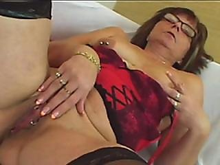 Nerdy Milf Enjoys Younger Cock In Her Shaved Cherry