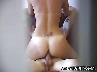 Amateur Couple Caught Fucking By A Hidden Cam