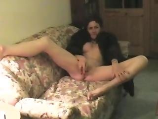 Old Woman Nude In Fur Coat 3