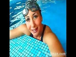 rondbostig, zwembad, sexy, zwempak, vintage