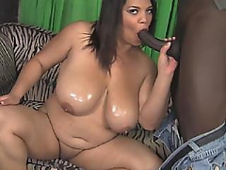 A Sexy Ebony Bbw Gets Her Wet Shaved Pussy Fucked Very Hard By Horny Black Man