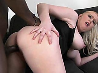 Chubby Blonde Veronika Gets Nailed With A Big Black Cock