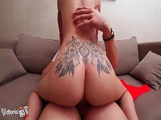 Tattooed Teen Suck Dick And Hardcore Sex Pov After Waking Up