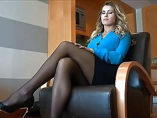 Blonde, Fetish, Foot, Milf, Nylon