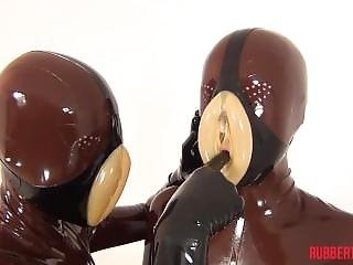 Latex Pussy Lips Suit Up #2