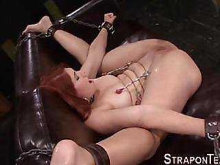 Lesbian Sub Strapon Fucks