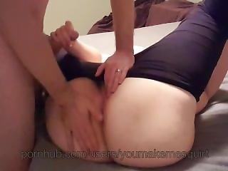 Spanking Fingering Toying Wife In Tights With Cum On Tits