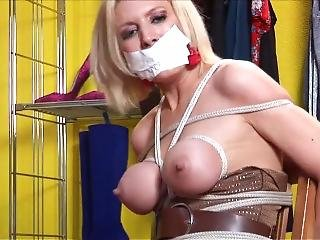 Holly Tied Up And Gagged Wearing Her Boots 2