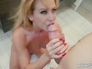 Horny Milf Masturbates Satisfying My Step Mom