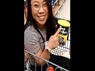 Tiny Asian First Footjob Picked Up From Foodstore