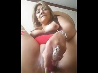 Mature Latina Masturbating And Using Dildo