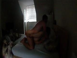 Homemade Silhouette Fuck In Bed