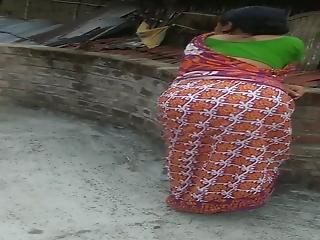 Indian Aunt's Ass In A Saree, Huge Ass