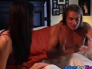 Stunning Wife Makes Love With Her Horny Over Worked Man