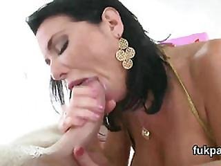 Gorgeous Centerfold Flashes Oversized Ass And Gets Asshole Rode