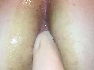 Mistress Fists Male Slave Loosening Asshole