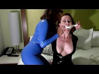 Enchantress Sahrye & Serene Isley - Catsuited Double Cross
