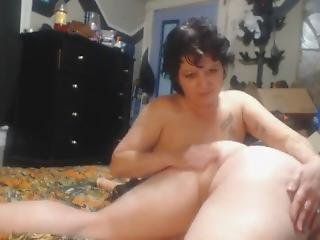 Spanking His Bare Ass