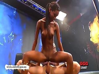 Gorgeous Ebony Babe Zara Gets Pounded