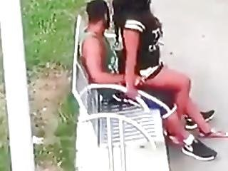 Smashing Thot Caught In The Park Getting Busy