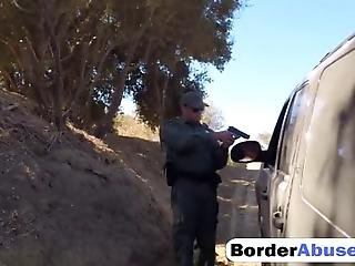 Border Agents Stop The Vehicle And Find Some Smugglers So They Arrest Them