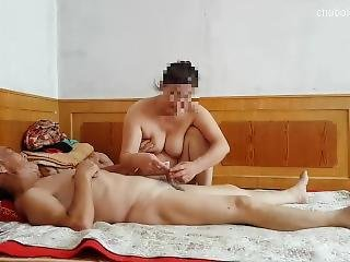 Chinese Grandpa Making Grandma Cum Hard