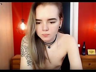 amateur, chick, blonde, engels, solo, Tiener, webcam