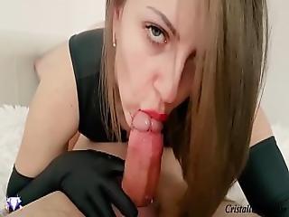 Close Up Blowjob And Cum Swallow - Cristall Gloss