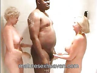 amatør, bedstemor, interracial, matur, swingerer