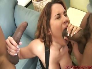 Hot Girl Renae Cruz In A Black Cock Sandwich Threeway