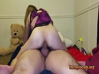 Tiny Girl 18 Year Old Can't Stop Bouncing On Big Cock