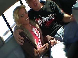 Blonde Slut Fucked In A Van On The Road