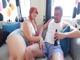 Redhead Bbw Teen Fucks Older Dude
