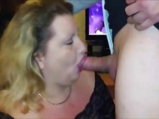 Chunky Cougar Devouring An Cock