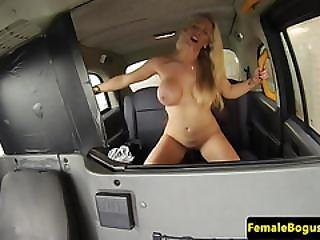 Interracial Female Cabbie Riding Black Cock