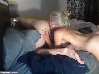 Girl With Fake Tits Is Playing With Dudes Asshole