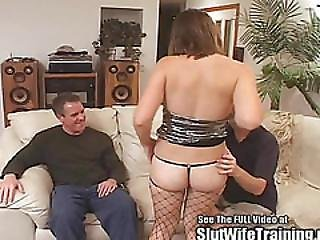 Young Wife Nice Tits Fucks Hubby And Dirty D