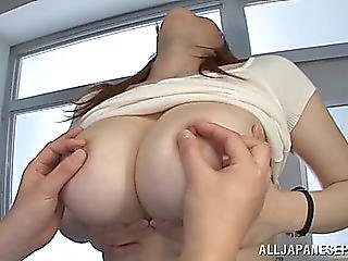 Breasty Oriental Pornstar Enjoys Getting Her Large Titties Squeezed