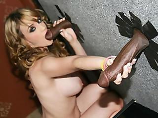 Busty Scarlett Monroe Sucks Gloryhole Bbcs