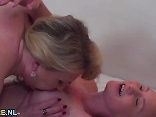 Busty Teen Gets Her Holes Licked By An Older Woman