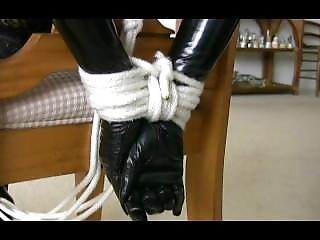 Sklaverei, Fetisch, Handschuhe, Festgebunden
