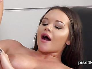 Fervent Sweetie Is Geeting Pissed On And Squirts Wet Pussy
