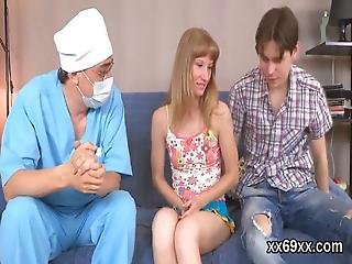 Stud Assists With Hymen Physical And Nailing Of Virgin Cutie