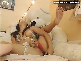 Irresistible Asian Teen Having Fun On Webcam