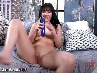 This Babe Is Ready To Cum All Over This Couch. Karly Baker