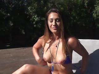 Purple Bikini For Short Time